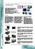 Telemetry Ground Stations - Integrated Solutions - 1st page of the datasheet